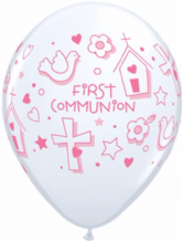 1st Communion Symbols (Girl) - 11 Inch Balloons 25pcs
